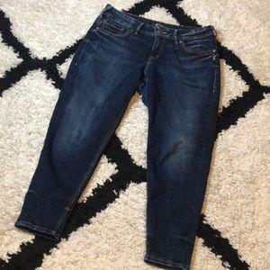 Silver Suki Skinny Crop Jeans
